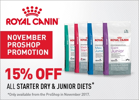 Royal Canin 15% on all  Junior diets